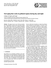 Soot Aging Time Scales in Polluted Regio... by Riemer, N.