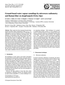 Ground-based Water Vapour Soundings by M... by Gerber, D.