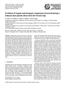 Evolution of Organic and Inorganic Compo... by Aymoz, G.