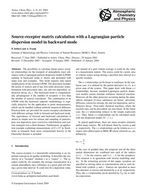 Source-receptor Matrix Calculation with ... by Seibert, P.