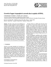 Growth of Upper Tropospheric Aerosols Du... by Romakkaniemi, S.