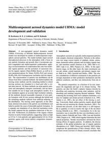 Multicomponent Aerosol Dynamics Model Uh... by Korhonen, H.