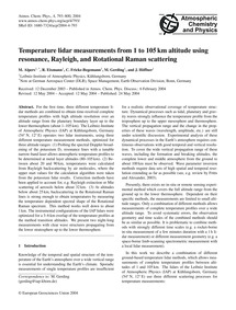 Temperature Lidar Measurements from 1 to... by Alpers, M.