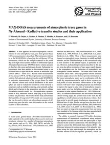 Max-doas Measurements of Atmospheric Tra... by Wittrock, F.