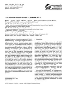 The Aerosol-climate Model Echam5-ham : V... by Stier, P.
