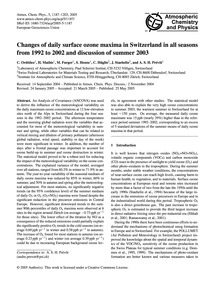 Changes of Daily Surface Ozone Maxima in... by Ordóñez, C.