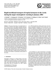 Rapid Meridional Transport of Tropical A... by Kleinböhl, A.