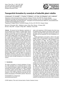 Nanoparticle Formation by Ozonolysis of ... by Joutsensaari, J.