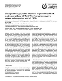 Subtropical Trace Gas Profiles Determine... by Schneider, M.