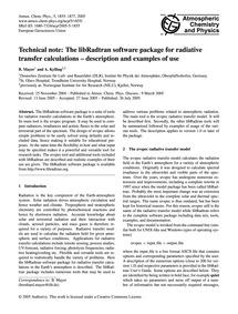 Technical Note: the Libradtran Software ... by Mayer, B.