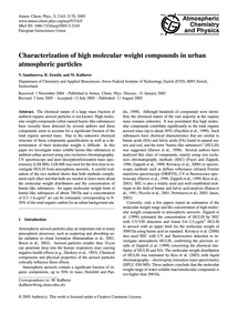 Characterization of High Molecular Weigh... by Samburova, V.