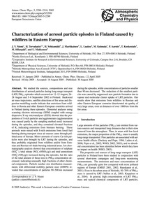 Characterization of Aerosol Particle Epi... by Niemi, J. V.