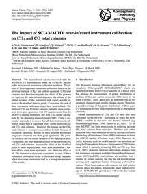The Impact of Sciamachy Near-infrared In... by Gloudemans, A. M. S.