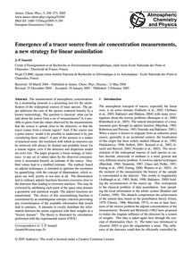 Emergence of a Tracer Source from Air Co... by Issartel, J.-p.