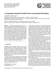 A Lagrangian Stochastic Model for the Co... by Mortarini, L.
