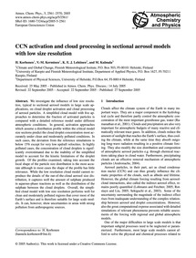Ccn Activation and Cloud Processing in S... by Korhonen, H.