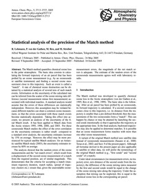 Statistical Analysis of the Precision of... by Lehmann, R.