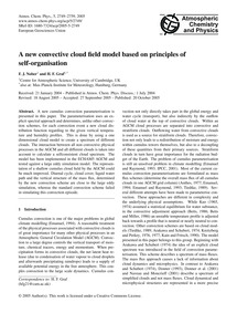 A New Convective Cloud Field Model Based... by Nober, F. J.