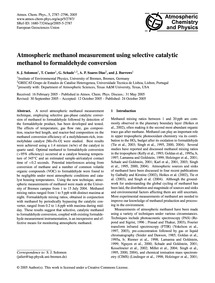 Atmospheric Methanol Measurement Using S... by Solomon, S. J.