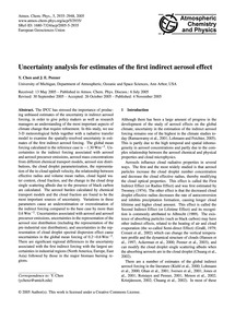 Uncertainty Analysis for Estimates of th... by Chen, Y.