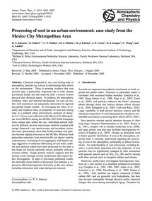 Processing of Soot in an Urban Environme... by Johnson, K. S.