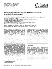 3-d Microphysical Model Studies of Arcti... by Davies, S.
