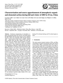 Characterization and Source Apportionmen... by Cao, J. J.