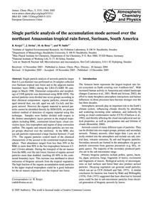 Single Particle Analysis of the Accumula... by Krejci, R.