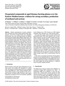Oxygenated Compounds in Aged Biomass Bur... by Holzinger, R.