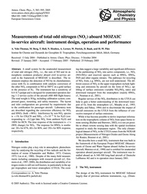 Measurements of Total Odd Nitrogen (NoY)... by Volz-thomas, A.