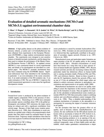 Evaluation of Detailed Aromatic Mechanis... by Bloss, C.