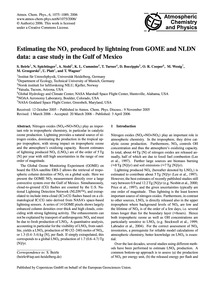 Estimating the NoX Produced by Lightning... by Beirle, S.