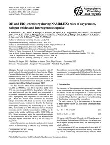 Oh and Ho2 Chemistry During Namblex: Rol... by Sommariva, R.