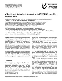Mipas Detects Antarctic Stratospheric Be... by Höpfner, M.