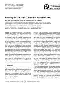 Screening the Esa Atsr-2 World Fire Atla... by Mota, B. W.