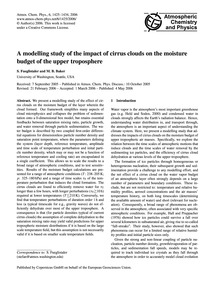 A Modelling Study of the Impact of Cirru... by Fueglistaler, S.