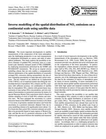 Inverse Modelling of the Spatial Distrib... by Konovalov, I. B.
