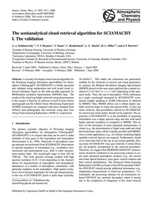 The Semianalytical Cloud Retrieval Algor... by Kokhanovsky, A. A.