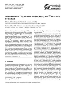 Measurements of Co2, Its Stable Isotopes... by Sturm, P.