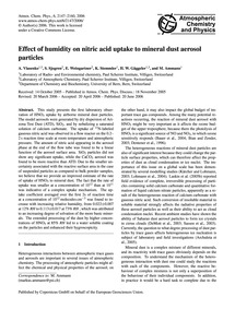 Effect of Humidity on Nitric Acid Uptake... by Vlasenko, A.