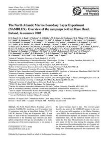 The North Atlantic Marine Boundary Layer... by Heard, D. E.