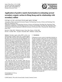 Application of Positive Matrix Factoriza... by Yuan, Z. B.