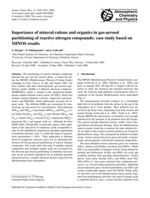 Importance of Mineral Cations and Organi... by Metzger, S.