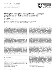 Stratosphere-troposphere Exchange from t... by Bourqui, M. S.