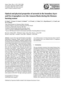 Optical and Physical Properties of Aeros... by Chand, D.