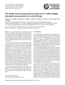 No2 Profile Retrieval Using Airborne Mul... by Bruns, M.