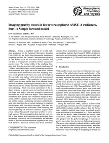 Imaging Gravity Waves in Lower Stratosph... by Eckermann, S. D.