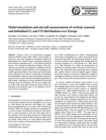 Model Simulations and Aircraft Measureme... by Fischer, H.