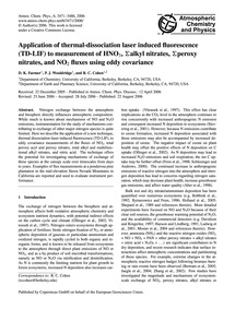 Application of Thermal-dissociation Lase... by Farmer, D. K.