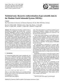 Technical Note: Recursive Rediscretisati... by Jöckel, P.